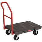 "Rubbermaid FG440600BLA 24"" x 36"" Heavy Duty Platform Truck - 2000 lb. Capacity"