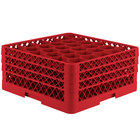 Vollrath TR12HHA Traex® Rack Max Full-Size Red 30-Compartment 7 7/8 inch Glass Rack with Open Rack Extender On Top
