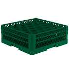Vollrath TR12HA Traex® Rack Max Full-Size Green 30-Compartment 6 3/8 inch Glass Rack with Open Rack Extender On Top