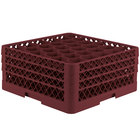 Vollrath TR12HHA Traex® Rack Max Full-Size Burgundy 30-Compartment 7 7/8 inch Glass Rack with Open Rack Extender On Top