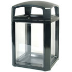 Rubbermaid FG397589BLA Landmark Series Black Security Container with Lock and Clear Panels 50 Gallon