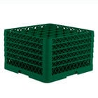 Vollrath TR7CCCCC Traex® Full-Size Green 36-Compartment 11 inch Glass Rack