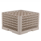 Vollrath TR7CCCCA Traex® Full-Size Beige 36-Compartment 11 inch Glass Rack with Open Rack Extender On Top
