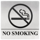 Tablecraft B14 No Smoking Sign - Stainless Steel, 5 inch x 5 inch