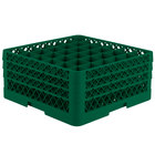 Vollrath TR7CCC Traex® Full-Size Green 36-Compartment 7 7/8 inch Glass Rack