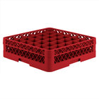 Vollrath TR7C Traex® Full-Size Red 36-Compartment 4 13/16 inch Glass Rack