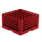 Vollrath TR9EEEE Traex® Full-Size Red 49-Compartment 9 7/16 inch Glass Rack