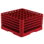 Vollrath TR9EEEEA Traex® Full-Size Red 49-Compartment 11 inch Glass Rack with Open Rack Extender On Top