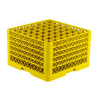 Vollrath TR9EEEEE Traex® Full-Size Yellow 49-Compartment 11 inch Glass Rack