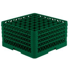 Vollrath TR9EEEEA Traex® Full-Size Green 49-Compartment 11 inch Glass Rack with Open Rack Extender On Top