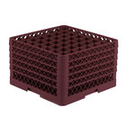 Vollrath TR9EEEEA Traex® Full-Size Burgundy 49-Compartment 11 inch Glass Rack with Open Rack Extender On Top