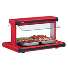 Hatco GR2BW-66 66 inch Glo-Ray Warm Red Designer Buffet Warmer with Warm Red Insets - 2920W