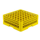 Vollrath TR9EE Traex® Full-Size Yellow 49-Compartment 6 3/8 inch Glass Rack