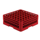Vollrath TR9EE Traex® Full-Size Red 49-Compartment 6 3/8 inch Glass Rack
