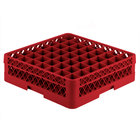 Vollrath TR9E Traex® Full-Size Red 49-Compartment 4 13/16 inch Glass Rack