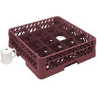 Vollrath TR4DDDD Traex® Full-Size Burgundy 16-Compartment 9 7/16 inch Cup Rack