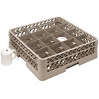 Vollrath TR4DDDD Traex® Full-Size Beige 16-Compartment 9 7/16 inch Cup Rack