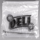 10 inch x 8 inch Printed Plastic Deli Saddle Bag with Slide Seal - 1000/Case