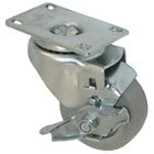 All Points 26-2373 3 inch Swivel Plate Caster with Brake - 200 lb. Capacity