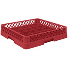 Vollrath TR16BBBB Traex® Full-Size Red 25-Compartment 9 7/16 inch Cup Rack