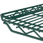 Metro 2436Q-DHG qwikSLOT Hunter Green Wire Shelf - 24 inch x 36 inch