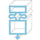 All Points 74-1155 Magnetic Door Gasket - 21 1/2 inch x 31 1/4 inch