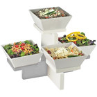 Cal-Mil 3024-55 Luxe Four Bowl Stainless Steel Multi Level Display - 20 inch x 16 inch x 13 1/2 inch