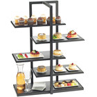 Cal-Mil 3303-96 One by One Black Multi-Level Shelf Display - 28 1/2 inch x 13 1/2 inch x 36 1/2 inch