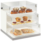 Cal-Mil 3020-55 Luxe Three Tier Stainless Steel Bakery Display Case - 19 inch x 20 inch x 19 inch