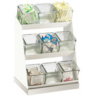 Cal-Mil 3018-55-12 Luxe Condiment Display with Glass Jars and Stainless Steel Base - 12 1/4