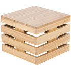 Cal-Mil 3332-10-60 Bamboo Square Crate Riser - 12 inch x 12 inch x 10 inch