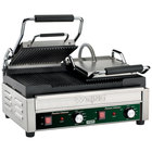 Waring WPG300 Panini Ottimo Grooved Top & Bottom Panini Sandwich Grill - 17 inch x 9 1/4 inch Cooking Surface - 240V, 3120W