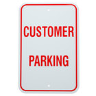 Customer Parking Aluminum Composite Sign - 12 inch x 18 inch P-78