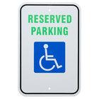 Handicap Reserved Parking Aluminum Composite Sign - 12 inch x 18 inch P-47