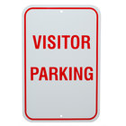 Visitor Parking Aluminum Composite Sign - 12 inch x 18 inch P-32A