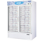 Turbo Air TGIM-49 White 55 inch Two Glass Door Reach In Ice Freezer - 46 cu. ft.