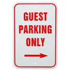 Guest Parking Only Aluminum Composite Sign - 12 inch x 18 inch P-48
