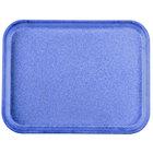 Carlisle 1410FG014 Customizable10 inch x 14 inch Glasteel Cobalt Blue Fiberglass Tray - 12/Case