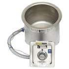 Wells SS8TDUI 7 Qt. Round Insulated Drop In Soup Well with Drain - Top Mount, Thermostatic Control, 208/240V