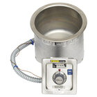 Wells SS8TDUI 7 Qt. Round Insulated Drop In Soup Well with Drain - Top Mount, Thermostatic Control