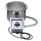 Wells SS8TDUC 7 Qt. Round Drop In Soup Well with Drain and Cord - Top Mount, Thermostatic Control, 120V