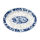 Thunder Group 2008DL Blue Dragon 8 inch x 6 inch Oval Melamine Platter - 12/Pack