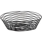 Tablecraft BK17410 Artisan Oval Black Wire Basket - 10 inch x 7 inch x 3 1/4 inch