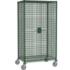 Metro SEC53EK3 Metroseal 3 Mobile Standard Duty Wire Security Cabinet with Casters (Two Locking) - 40 3/4 inch x 27 1/4 inch x 68 1/2 inch