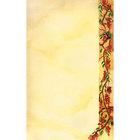 8 1/2 inch x 14 inch Menu Paper Right Insert - Mediterranean Themed Villa Design - 100/Pack