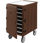 Cambro 1826LTC3131 Camcart Dark Brown Mobile Cart for 18 inch x 26 inch Sheet Pans and Trays