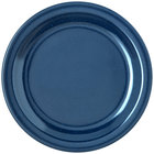 Carlisle 4350335 Dallas Ware 7 1/4 inch Cafe Blue Melamine Plate - 48/Case