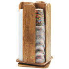 Cal-Mil 378-99 Madera Reclaimed Wood Revolving Lid / Cup Organizer - 9 inch x 9 inch x 18 1/2 inch