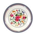 Thunder Group 1015AR Rose 14 3/8 inch Round Melamine Plate - 12/Pack