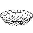 American Metalcraft WIB100 Black Round Wire Basket - 10
